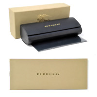 NEW BURBERRY EYEGLASSES SUNGLASSES BEIGE LEATHER BLACK HARD CASE CLOTH BOX