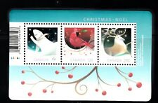 VC885 CANADA XMAS 3 RATES STAMP SS FROM ANNUAL COLLECTION, MINT, NH, OG, VF