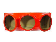 Triple 12 fiberglass sub woofer speaker box enclosure carpeted MDF case RED