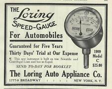 1909 Loring Model C Speedometer Ad/1779 Broadway New York NYC