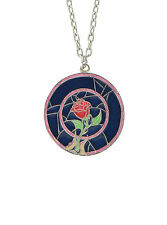Disney Beauty and the Beast Enchanted Rose Pendant NWT