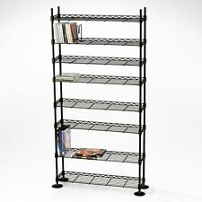 8-Tier Unit Shelf Shelving Cabinet Rack Storage DVD CD