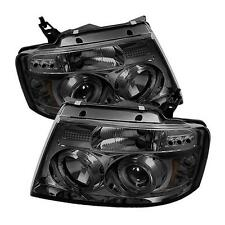 Projector Head Lights Lamps Ford F150 2004-2008 HALO LED - Smoke