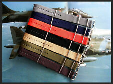 NATO ® strap watch band 20mm Brown g10 Nylon military RAF stitched Bonded IW usa