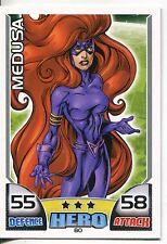 Marvel Hero Attax Series 1 Base Card #80 Medusa