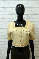 ROCCOBAROCCO Donna Giacca Cotone Taglia 50 Blazer Vintage Woman Jacket Corta