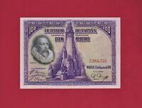 100 Pesetas 1928 Spain UNC Banknote, Banco de Espana  Madrid (P-76b) W/O PREFIX