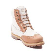 """Zapato De Mujer Botas Timberland 6"""" Premium Brogue punta del ala A1G6T bronceado de color BLANCO * NUEVO *"""