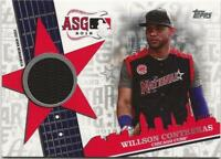 2019 Topps Update WILLSON CONTRERAS All-Star Stitches Relic Cubs Jersey Black