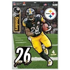 LEVEON BELL PITTSBURGH STEELERS 4 PIECE MULTI-USE DECALS 11X17 LIKE A FATHEAD