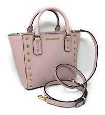 Michael Kors Sandrine Stud Small Leather Crossbody Blossom