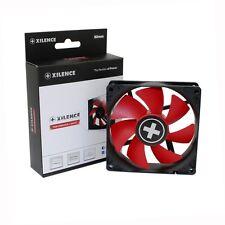 Lüfter 80 mm Gehäuselüfter Xilence Red Wing 17,5dB 12V 3 4 Pin rotes Lüfterblatt