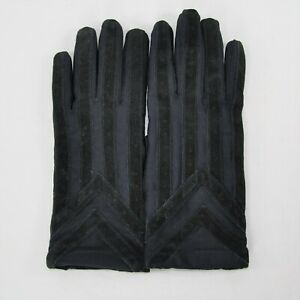 New Isotoner MENS Black ML Classic Stretch Gloves Knit Lined 24028