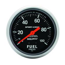 Autometer 3412 Sport-Comp Fuel Pressure Gauge, 2-5/8 in., Mechanical