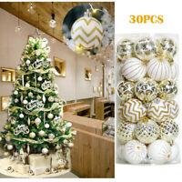 30Pcs Christmas Balls Baubles Party Xmas Tree Decorations Hanging Ornament Decor