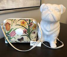 Gucci Shoulder Bag Whites Canvas Floral Crossbody