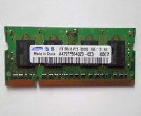 Samsung 1GB DDR2 PC2-5300 667mHz M470T2864QZ3 SODIMM Memory RAM Laptop Notebook