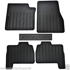 Oem New   Ford Expedition Black All Weather Floor Mats Lzaf