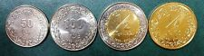 LIBYA UNC SET OF 4 COINS 50 100 (Dirhams) 1/4 1/2 DINAR 2014 BIMETALLIC