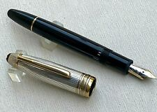 Early Mont Blanc Meisterstuck Solitaire Due FP w/925 Silver Cap, Germany #AR3199