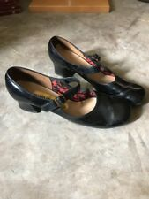 VINTAGE THE AMERICAN GIRL SHOE PLATFORM Heel Mary JAne LEATHER 8.5 Patent