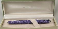 Levenger True Writer Mosaic Purple & Chrome Fountain Pen - Fine Nib - New