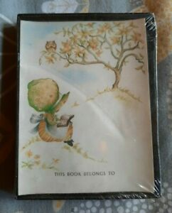 Vintage Boxed 1977 Holly Hobbie Style Book Plates