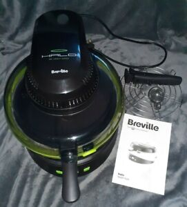 Breville ~ Halo Heavenly Good Health Fryer ~ Black Green ~ Working ~ IDF084