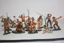 Elastolin Indianer Fußer, Varianten 2, Maßstab 1:25 zu 7cm Aufstellfiguren, GMK