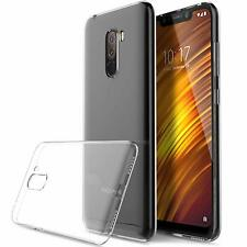 For Xiaomi Pocophone F1 Case Clear Silicone Slim Gel Cover & Stylus Pen