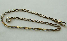 """Vintage Pocket Watch Chain Engraved Links 13"""" Long"""