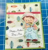 Mother's Day Card From Her Little One. A Flower From The Dirt And Bugs. Handmade