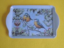Ambiente 1x Tablett Meisen Winter chirping BIRDS Melamin 15 x 23 trays Vögel