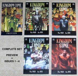KINGDOM COME Complete First Printing Set 1-4 DC Comics ALEX ROSS, JUSTICE LEAGUE