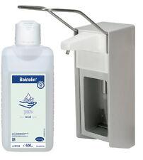 500 ml Wandspender Aluminium gebürstet Wandhalter + 500 ml Baktolin pure