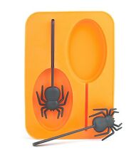 Kikkerland Spider Ice Pop Mold Orange Set of 2