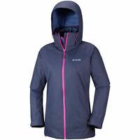 Columbia Interchange Coat Jacket Womens Ladies Full Zip Hood Navy Size M *REF34