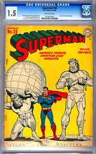 SUPERMAN #28 CGC 1.5 JERRY SIEGEL STORY WAYNE BORING COVER WWII GA CLASSIC 1944