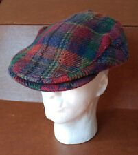 Mizen Head Wool Plaid Newsboy / Golf Hat Cap Made In Ireland - Size L