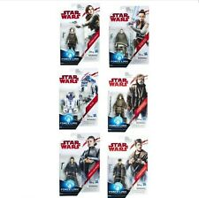 "Star Wars Force Link The Last Jedi Wave 2 Set of 6 3.75""Figure R2D2 Luke Leia DJ"