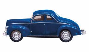 Woodland Scenics - Blue Coupe - Just Plug® Lighted Vehicle - HO  - JP5598