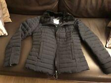 Jasper Conran padded Navy short fur collar Jacket 10