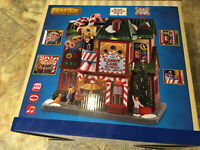 Lemax-THE CANDY CANE WORKS -Sights & Sounds Holiday Village