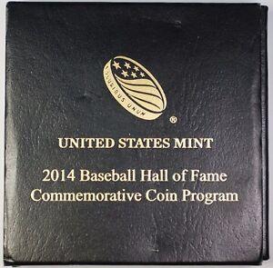 2014-W Baseball Gold $5 Hall of Fame Commemorative Coin Program Gem BU