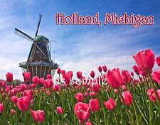 Michigan - HOLLAND Tulip Festival - Travel Souvenir Fridge MAGNET