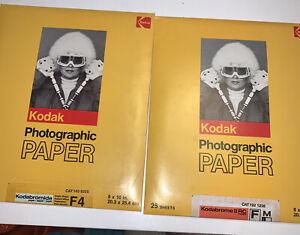 Vintage Kodak Black and white photogrpahic laler kodabromide and kodabrome 8x10