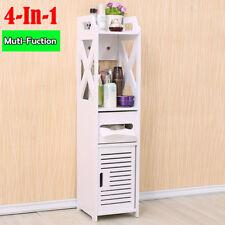 Bathroom Cabinet Single Freestand Wall Mounted Tallboy Cupboard Wood White sale