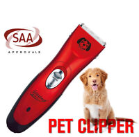 Electric Dog Clipper Comb Set Animal Hair Blade Cat Pet Grooming Cordless SAA