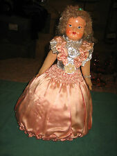 Vintage Collectible Doll Plastic Face With Stuffed Body~Very Unique & Unusual