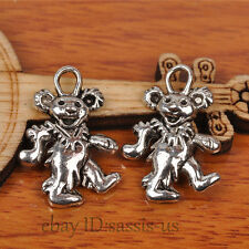 60pcs 21mm charms rock group bear pendant DIY Jewelry Tibet Silver TOP A7235